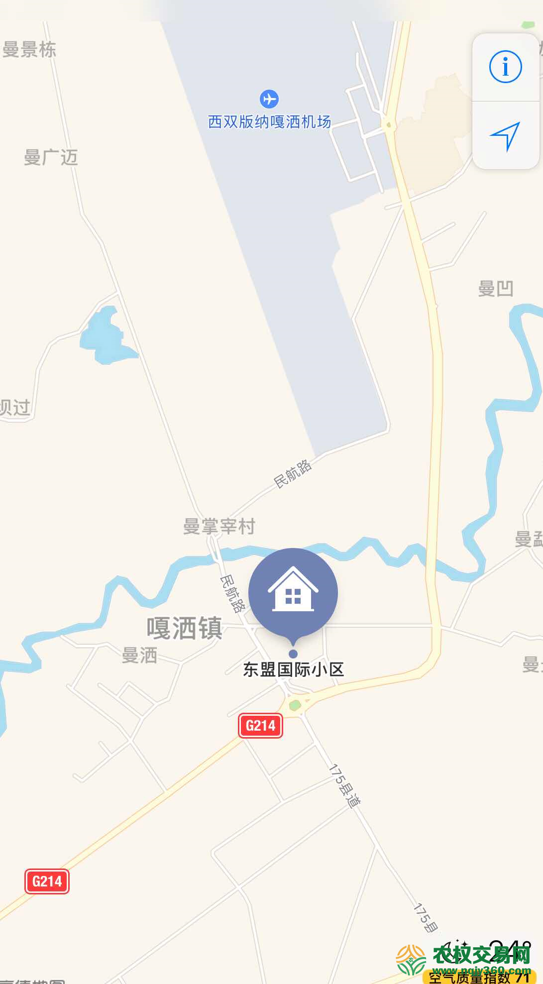 云南省西双版纳州景洪市180平方米商业宅基地转让